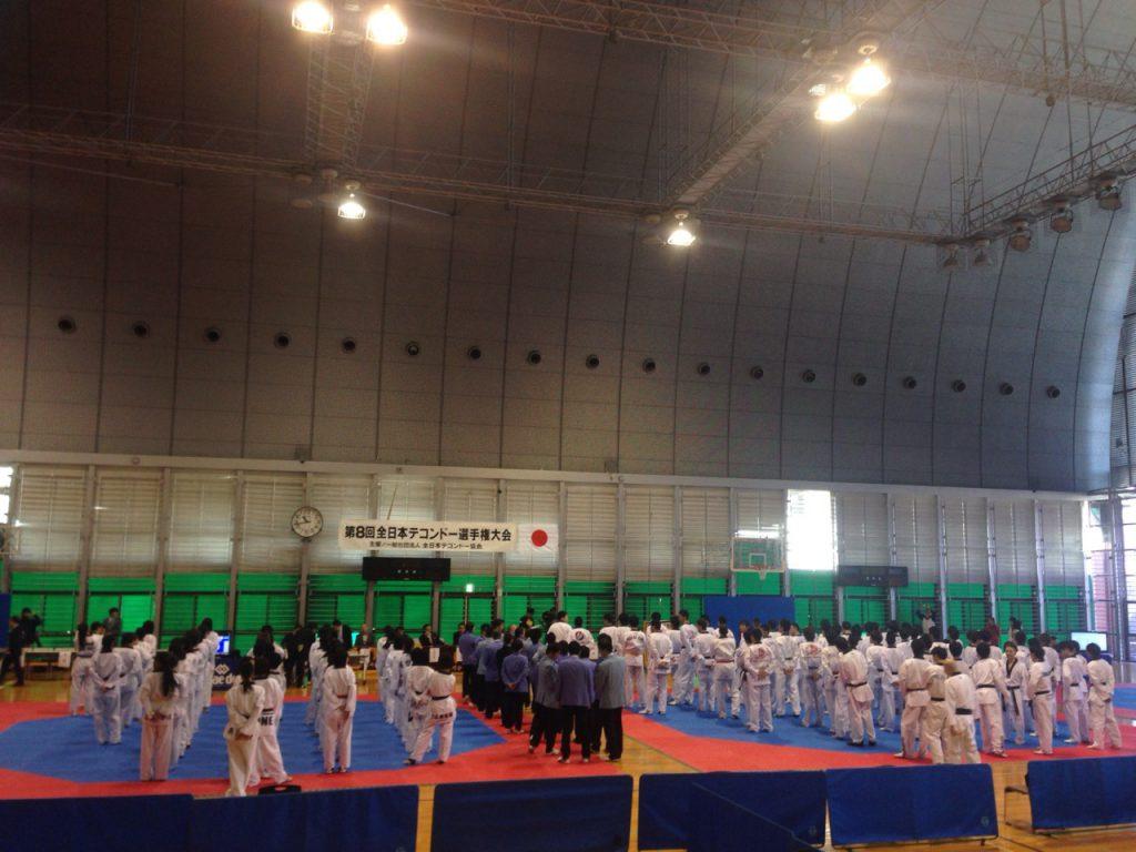 (第8回全日本テコンドー選手権の開会式 2015年3月22日)