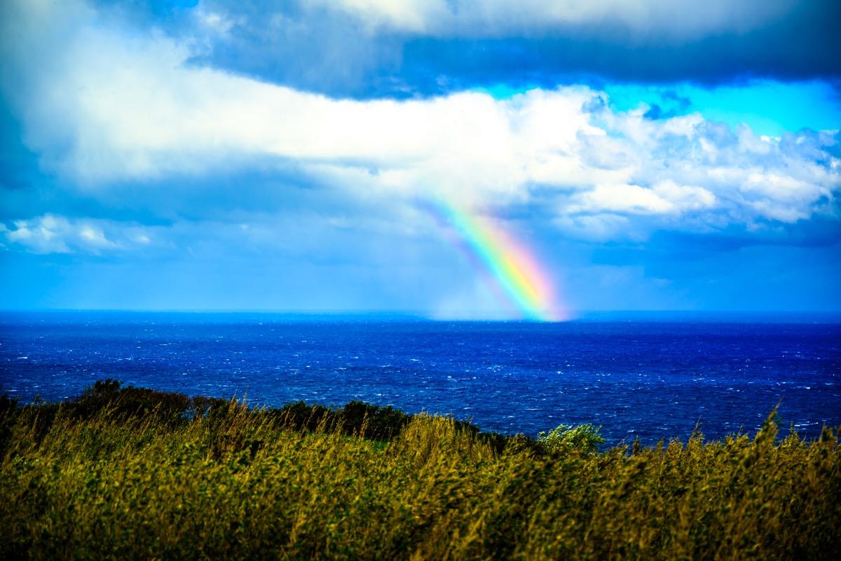 青ヶ島の虹